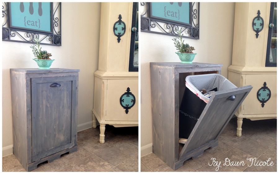 Delicieux How To Make Wood Tilt DIY Trash Can Cabinet