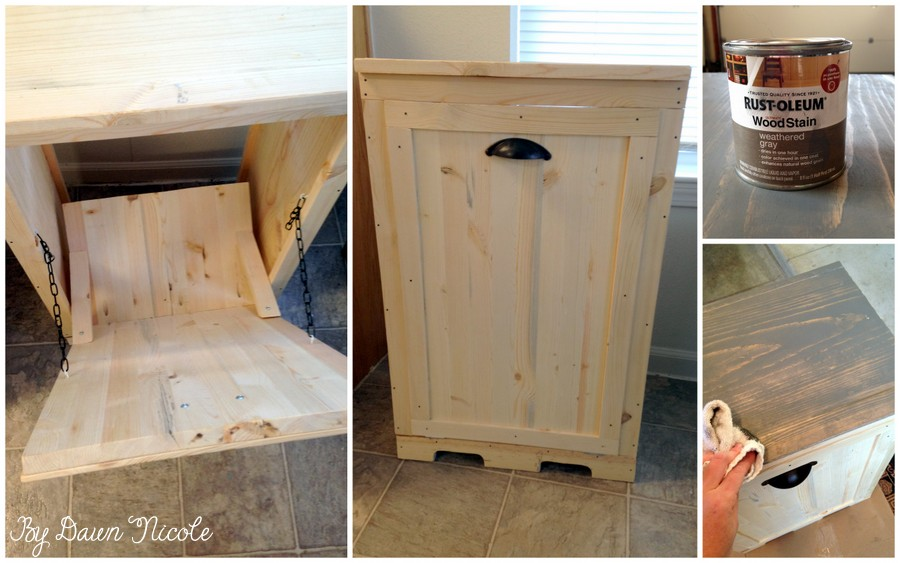 How to Make Wood Tilt DIY Trash Can Cabinet2