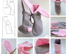 How to make cute DIY bunny slippers