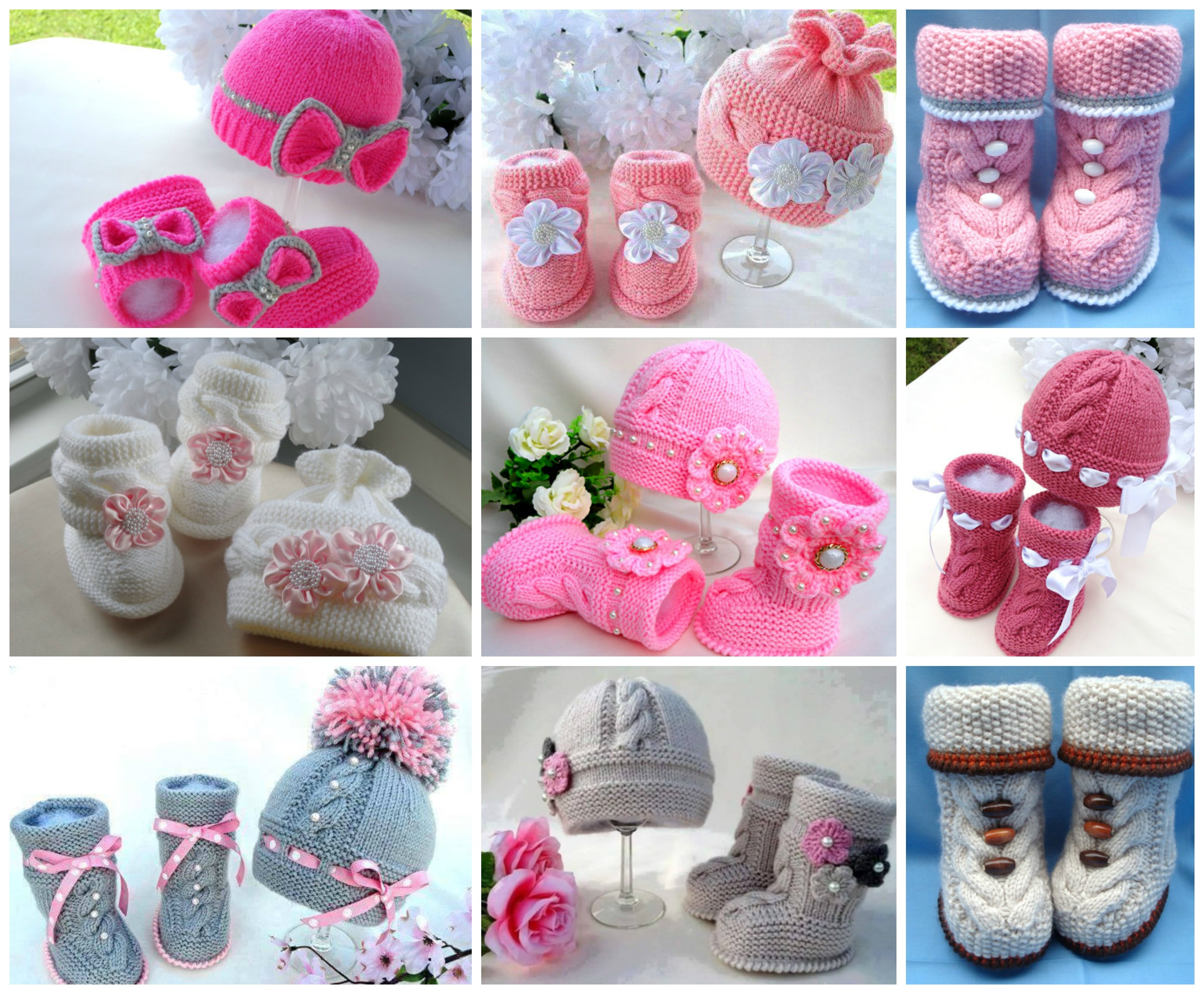 Knit Hat Booties for Baby - Super Cute Patterns