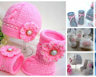 Knit Hat Booties for baby
