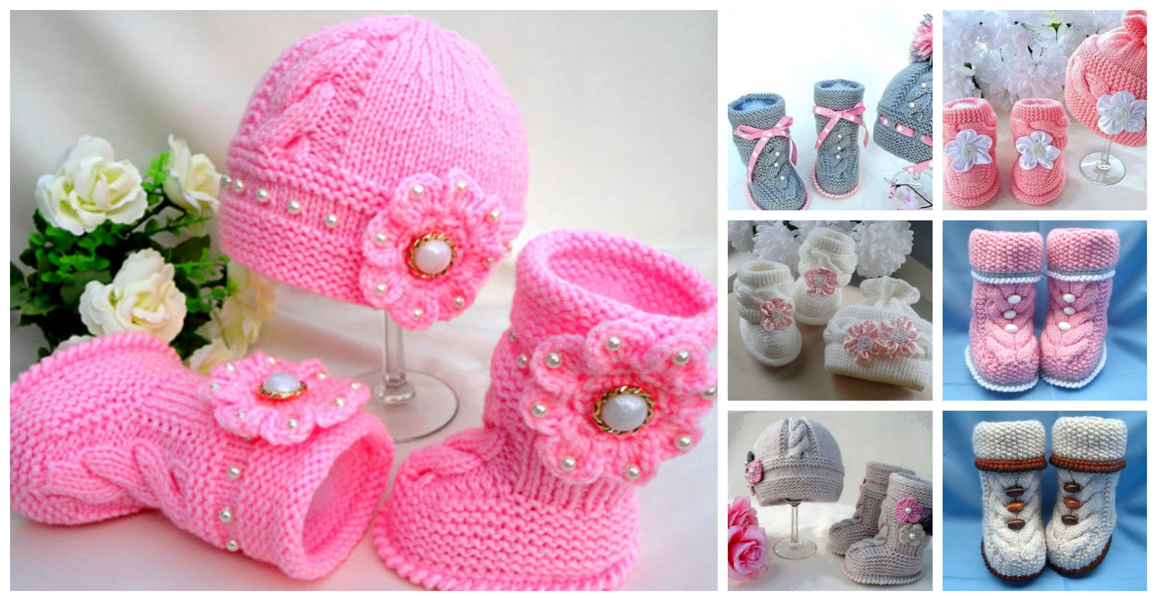 Knit Hat Booties for Baby - Super Cute Patterns | BeesDIY.com
