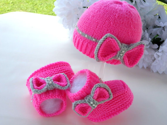 Knit Hat Booties for Baby - Super Cute Patterns11