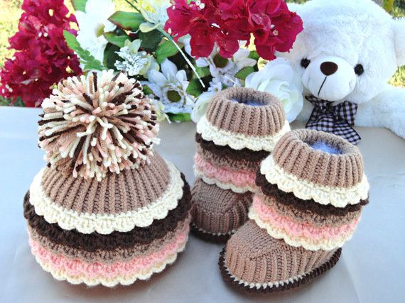 Knit Hat Booties for Baby - Super Cute Patterns12