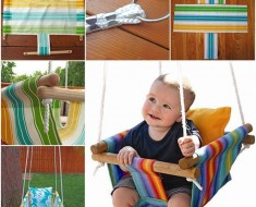 Make Canvas Hammock Style DIY Baby Swing