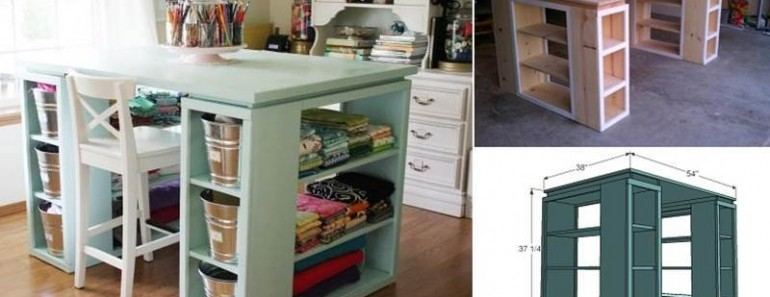 How to Build Modern DIY Craft Table