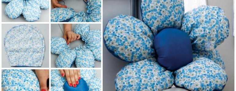 Make Beautiful flower Shaped DIY Cushion