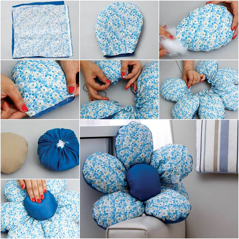 Make flower Shaped DIY Cushion