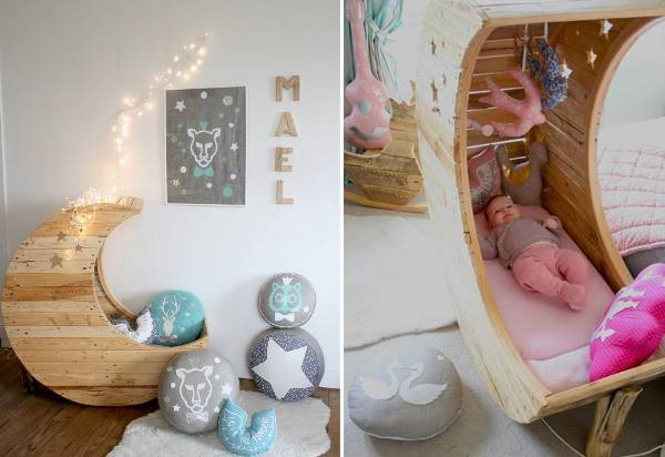 DIY Spool Rocking Cot for Baby