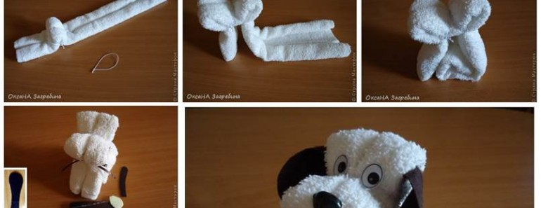 Super Cute DIY Towel Puppy