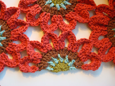 Crochet Flower Window Valance Pattern : Crochet Flower Valance FREE Pattern BeesDIY.com