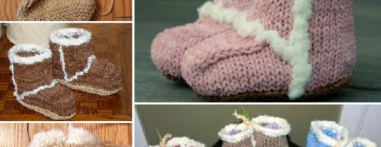 Knit Baby Booties FREE Pattern – Ugg Style