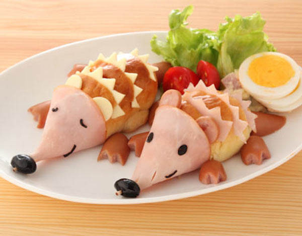 0+ Creative Sandwich Ideas-Hedgehog