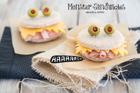 0+ Creative Sandwich Ideas-Monster