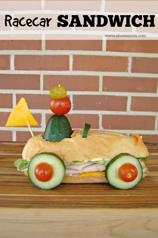 10+ Creative Sandwich Ideas- Racecar