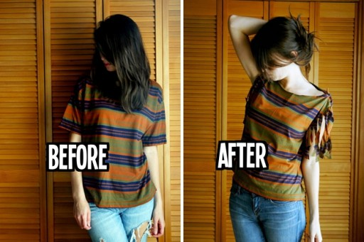20+ Cool Ideas to Refashion Old Shirts 13