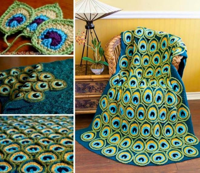 Crochet Peacock Patterns- peacock blanket2