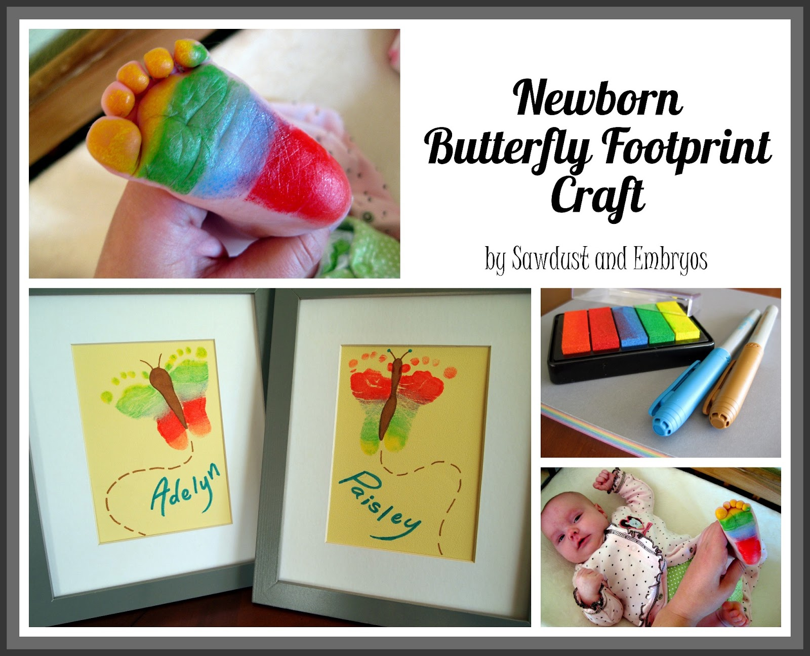 Cute DIY Footprint Butterfly