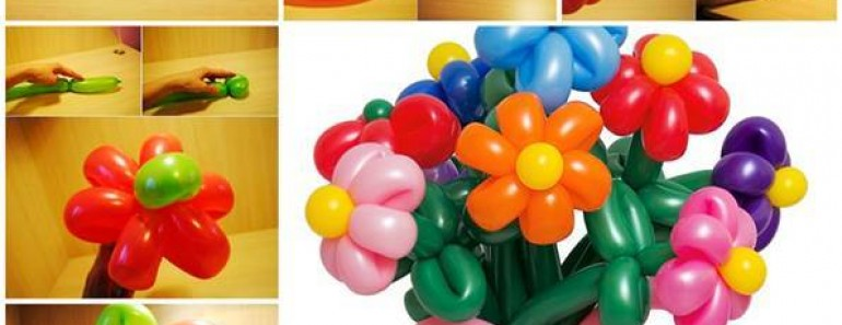 Beautiful DIY Balloon Flowers