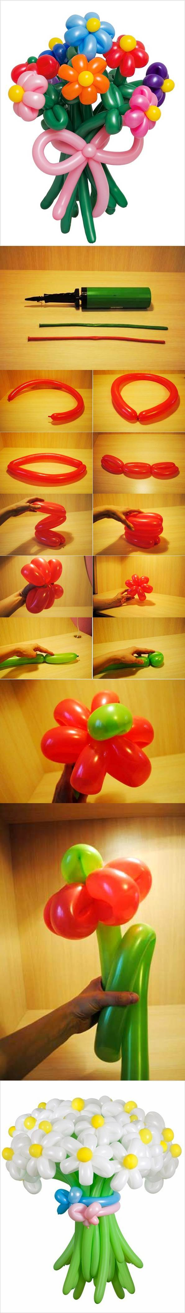 DIY Balloon Flowers2