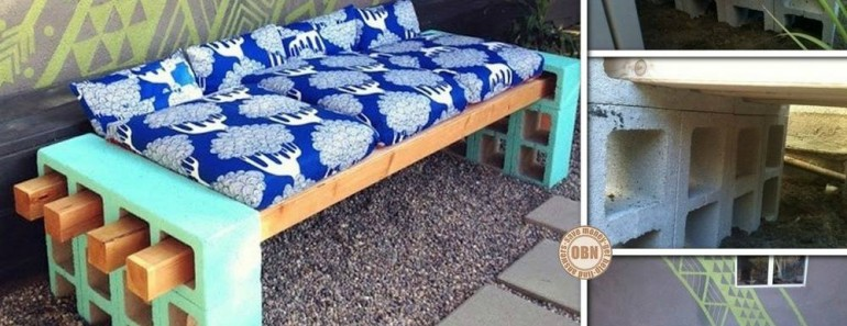 DIY Cinder Block Bench Tutorial