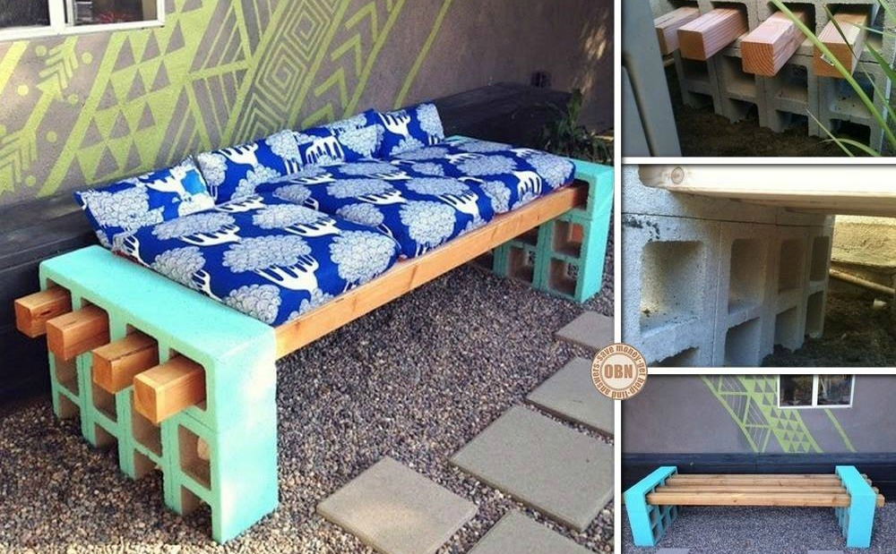 Diy cinder block bench tutorial for Cinder block seating area