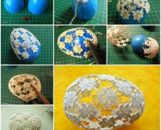 DIY Easter Egg with Quiling Flower Decoration