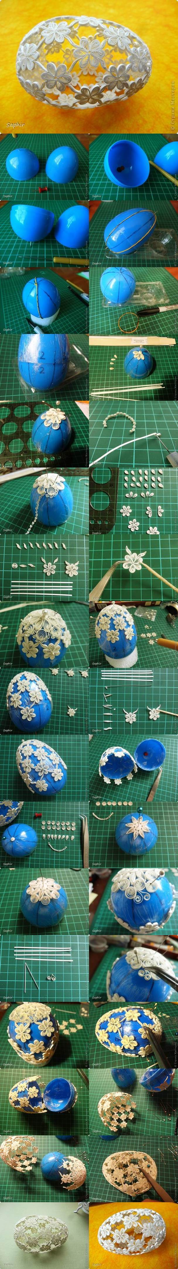 DIY Easter Egg with Quiling Flower Decoration2