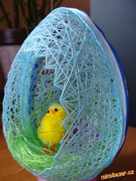 DIY Egg Shaped Easter Basket 10