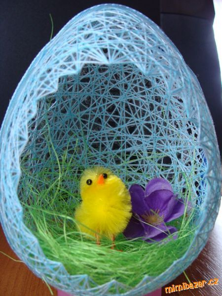 DIY Egg Shaped Easter Basket 11