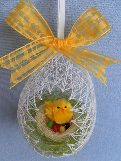 DIY Egg Shaped Easter Basket 13