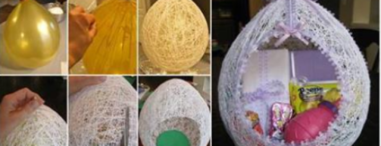 DIY Egg Shaped Easter Basket (2 ways)