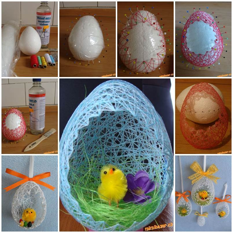 Diy Easter Decorating Ideas: DIY Egg Shaped Easter Basket (2 Ways)