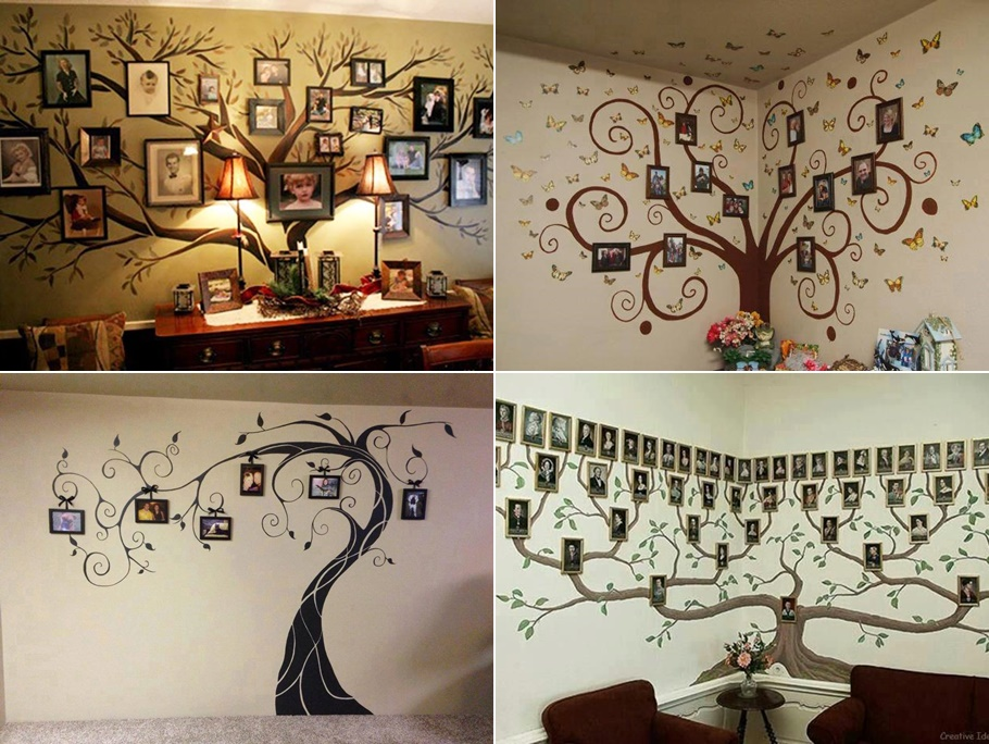 Family Wall Decor Diy : Diy family tree wall art decor beesdiy