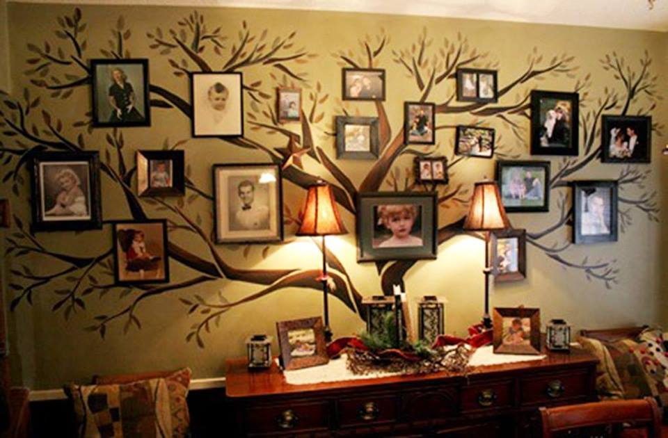 DIY Family Tree Wall Art Decor1