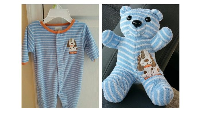 DIY Keepsake Bear from Old Baby Clothes3