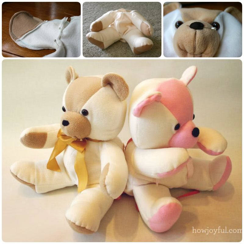 DIY Keepsake Bear from Old Baby Clothes7