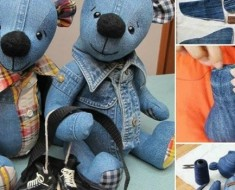 DIY Memory Bear From Old Jeans