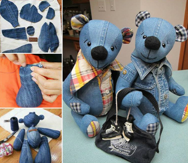 DIY Memory Bear From Old Jeans1
