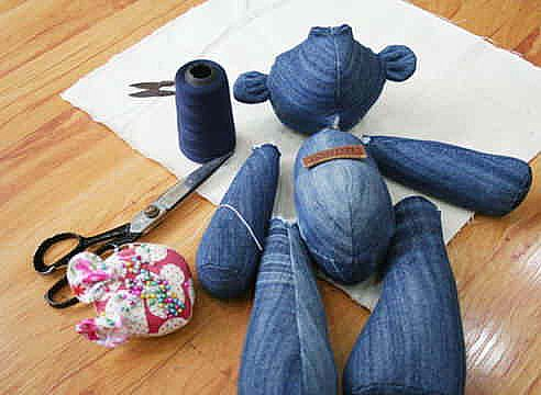 DIY Memory Bear From Old Jeans4