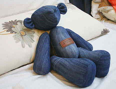 DIY Memory Bear From Old Jeans6