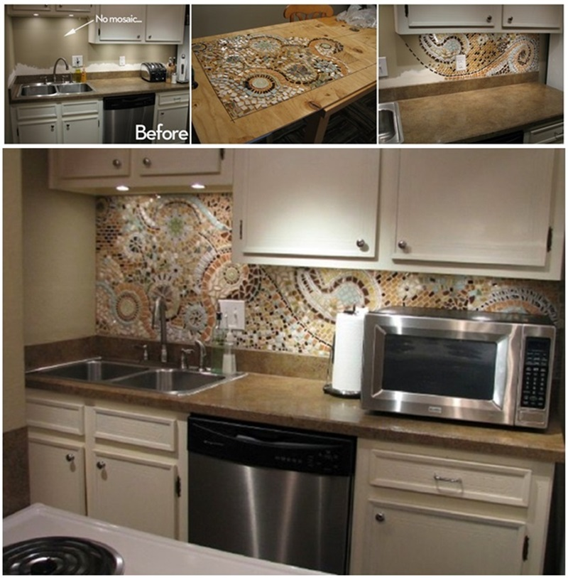 Diy Mosaic Back Splash For Your Kitchen Beesdiy Com
