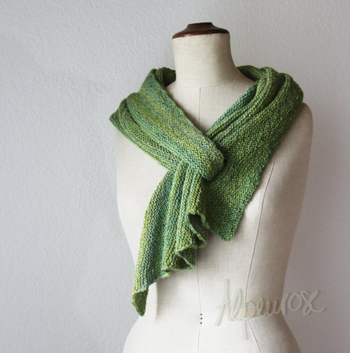 DIY Pfeilraupe Knit Scarf Arrow Caterpillar (Free Pattern)2