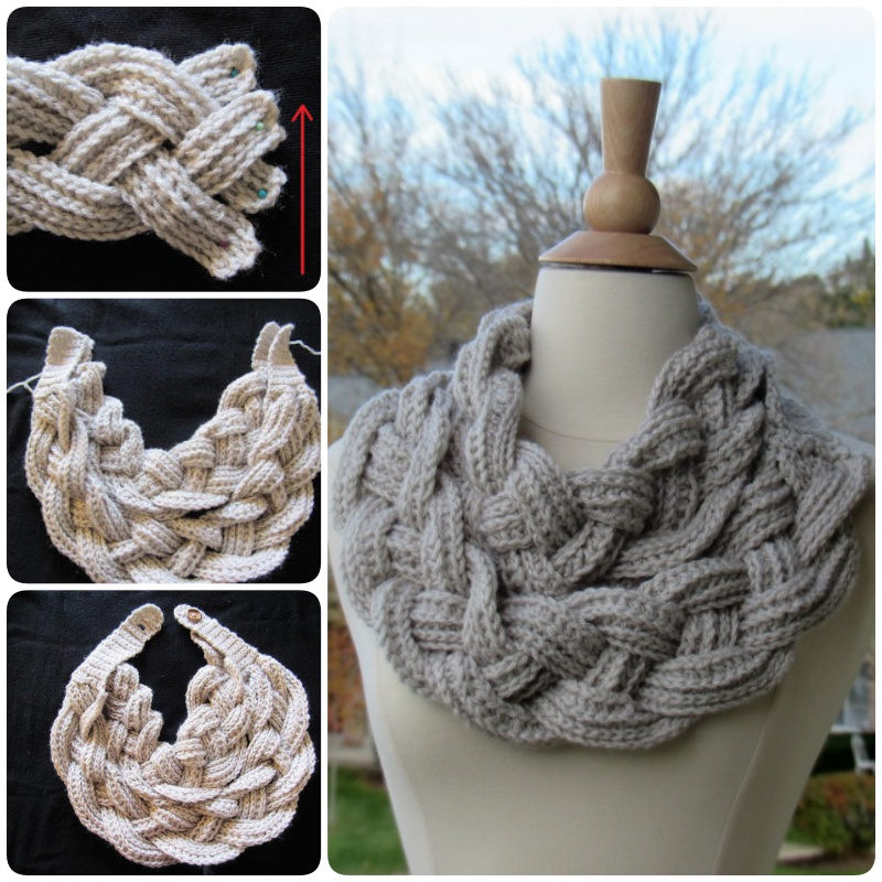 Double Layered Braided Crochet Cowl (Free Pattern)