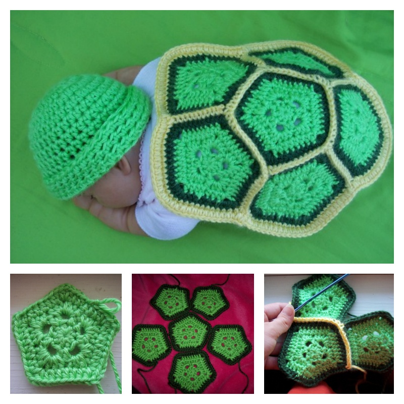 Crochet Turtle Newborn Photo Prop with Free Pattern (FREE Pattern)