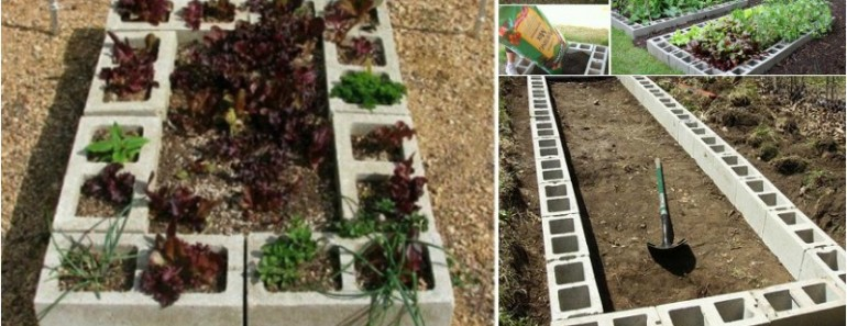 DIY Raised Garden Bed with Cinder Block (Video)