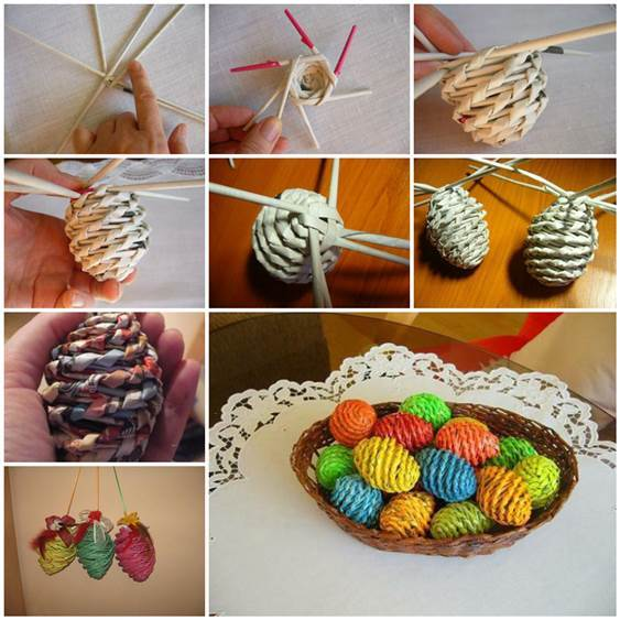 How to Make Woven DIY Paper Easter Eggs