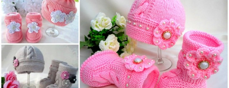 Knit Baby Hat Booties Patterns