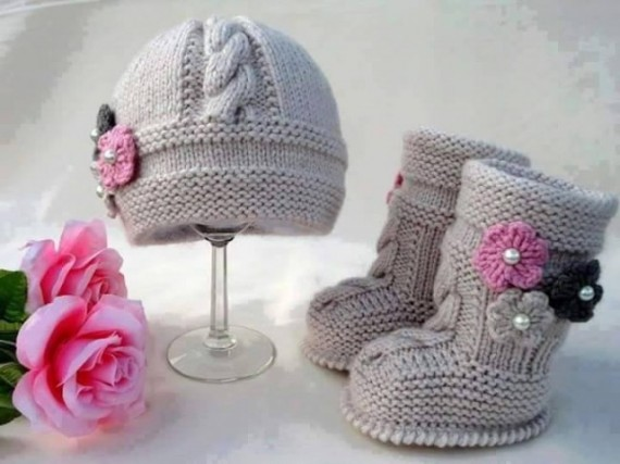 Knit Hat Booties for Baby - Super Cute Patterns1