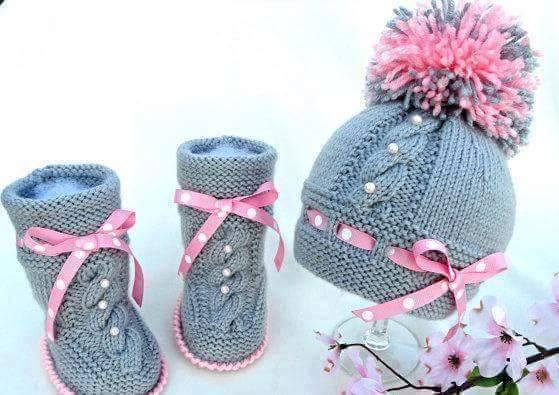 Knit Hat Booties for Baby - Super Cute Patterns2